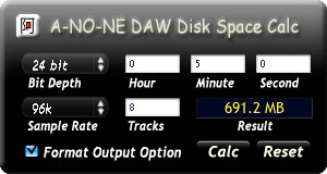 Disk Space Calc Widget